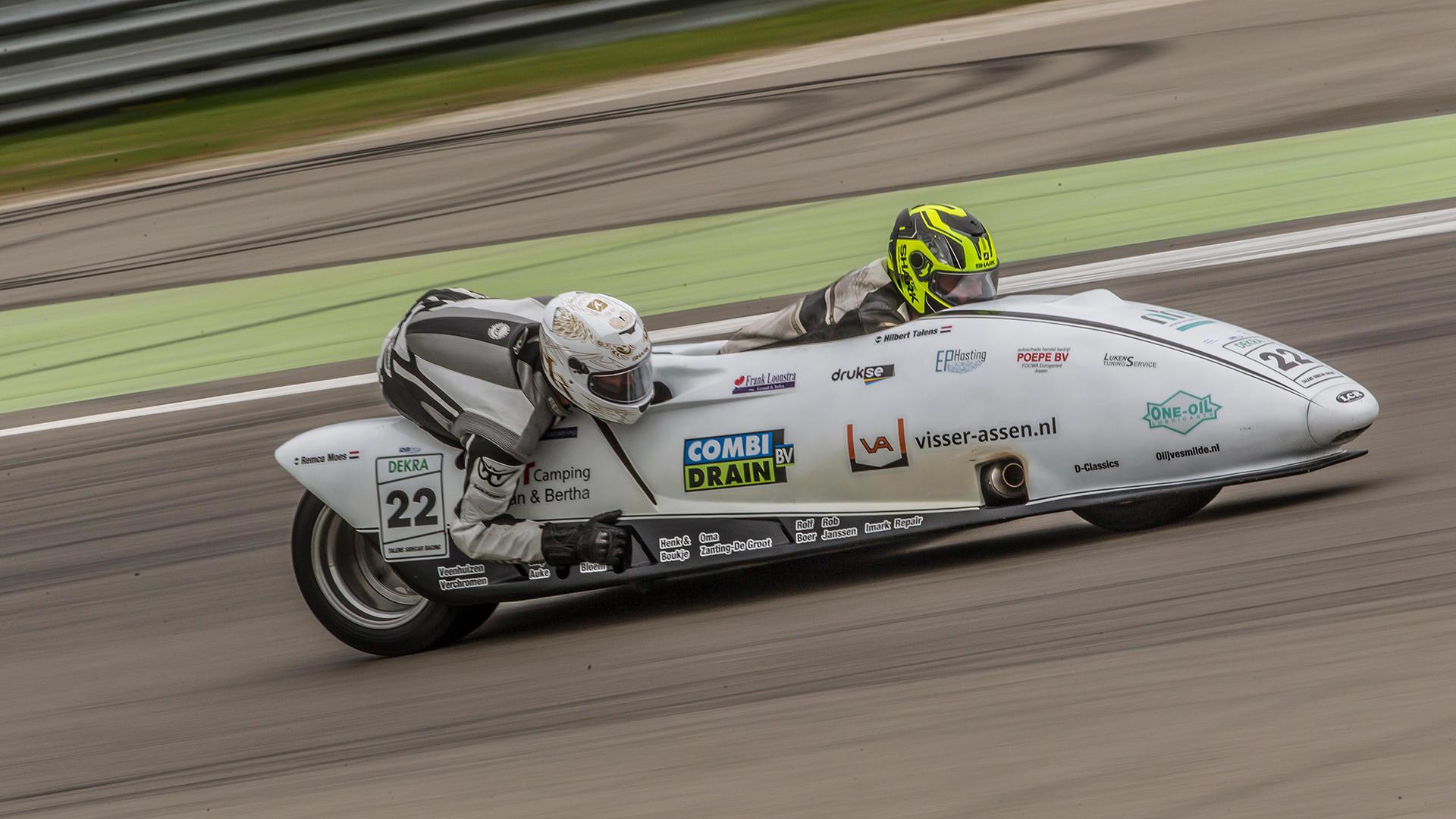 Bilder vom 1. und 2. Freien Training der IDM Sidecar in Assen 2017.
