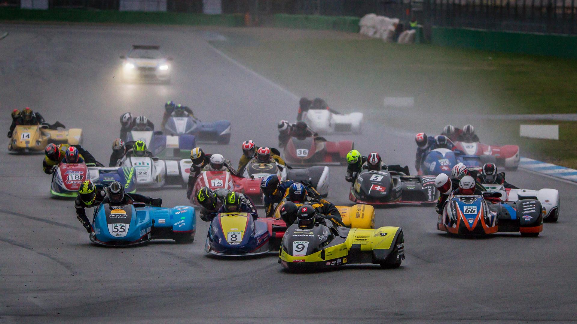 Bilder der Sidecars der IDM auf dem Hockenheimring