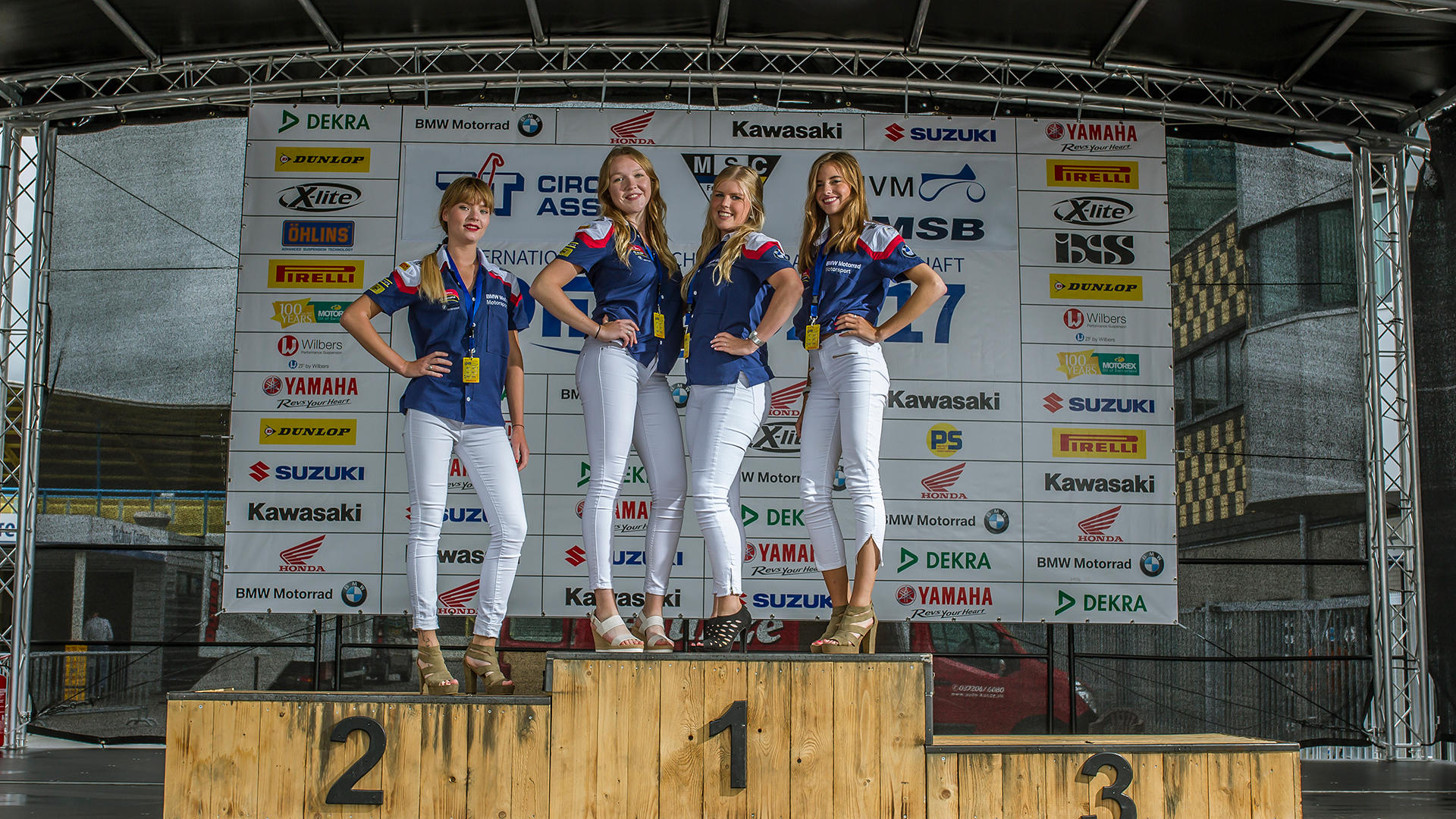 Grid Girls von der IDM in Assen 2017