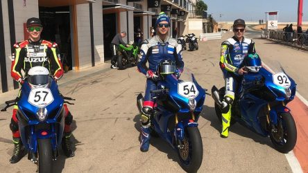 IDM Superbike 1000: Das HPC-Power-Suzuki Racing Team ist im internationalen Testmodus