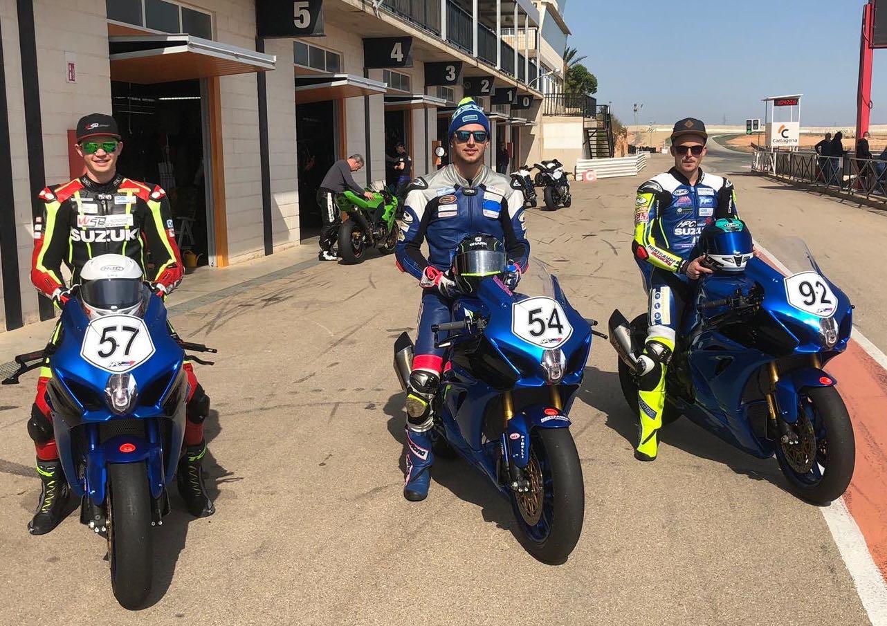 IDM Superbike 1000: Das HPC-Power-Suzuki Racing Team ist im internationalen Testmodus