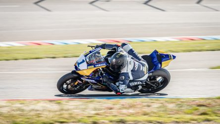IDM Supersport 600: Enderlein im Training auf Kurs