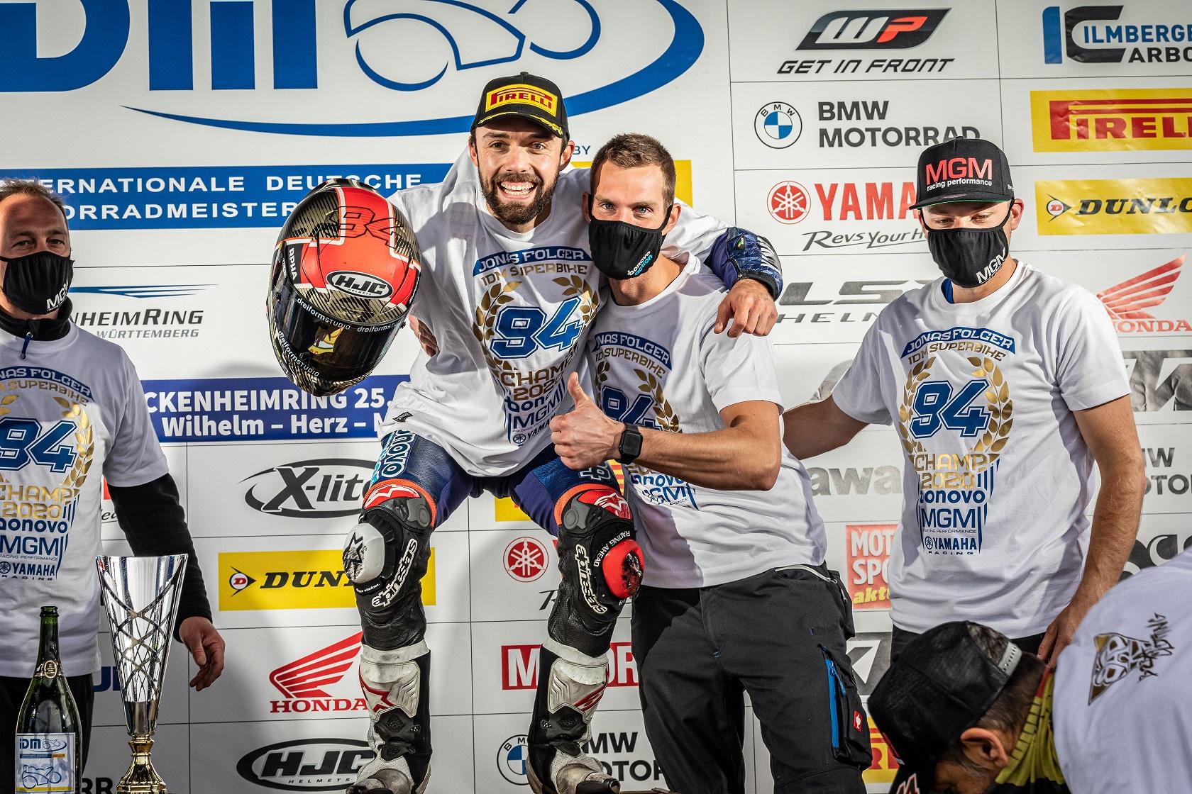 IDM Superbike 1000: Jonas Folger ist der neue Meister in der Top-Klasse