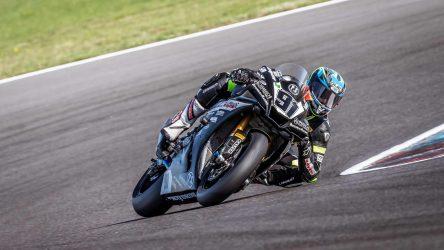 IDM Superbike 1000: Saison-Aus für Bastien Mackels, Handbruch nach Highsider